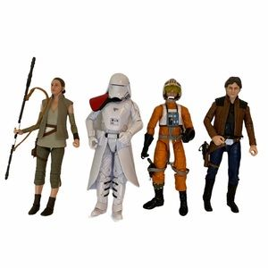 "4 Star Wars The Black Series 6"" action figures"